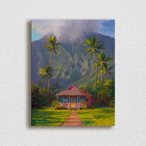 Grounded - Hanalei Hawaii Landscape Painting Canvas Print