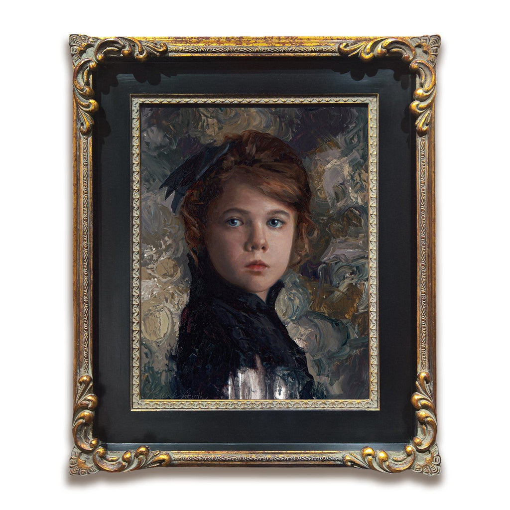 Timeless - Original Portrait Painting - Victorian Portrait by oil painter Karen Whitworth