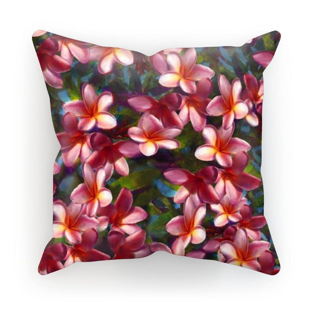 Plumeria Paradise Pillow Tropical Cushion