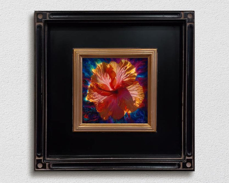 Framed Hawaiian Hibiscus Flower Wall Art Canvas Painting