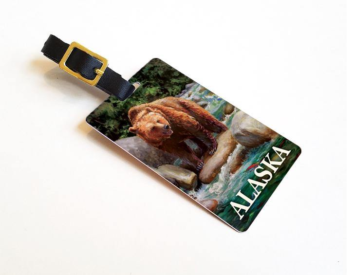 Alaska Brown Bear Luggage Tag
