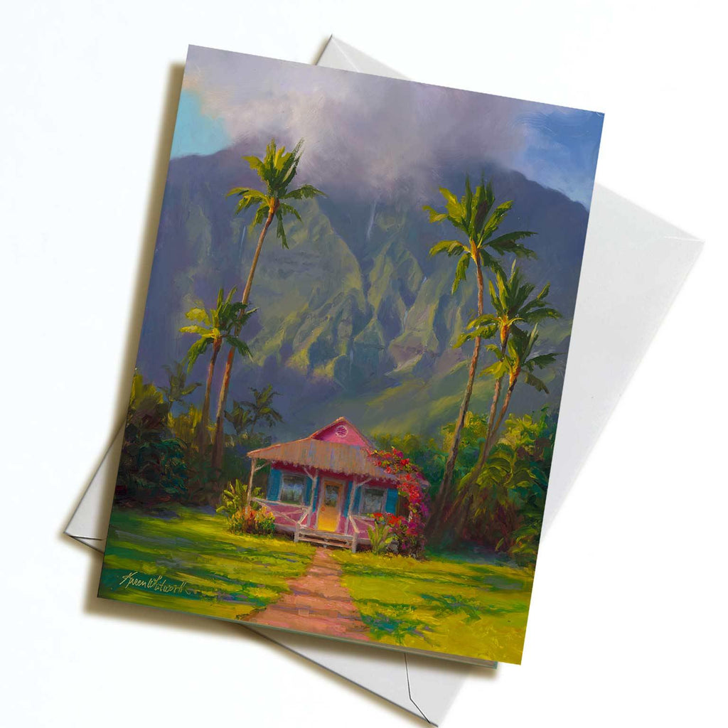 Hawaii greeting card of Kauai Hanalei landscape art