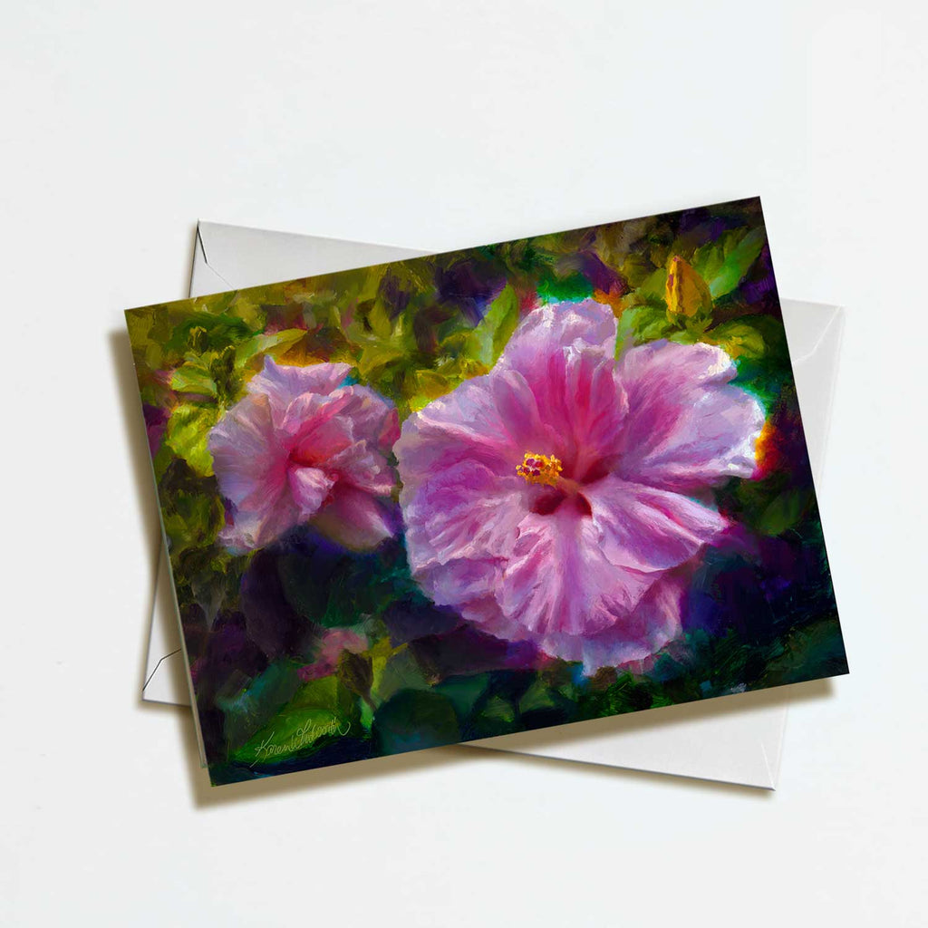 Tropical Hibiscus Flower Greeting Card