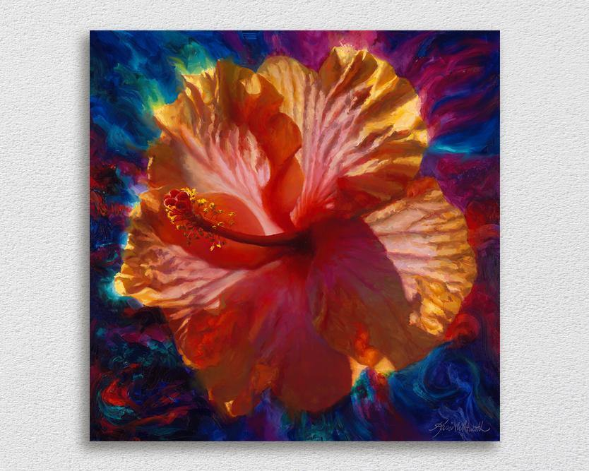 Hawaiian Hibiscus Flower Wall Art Canvas Painting