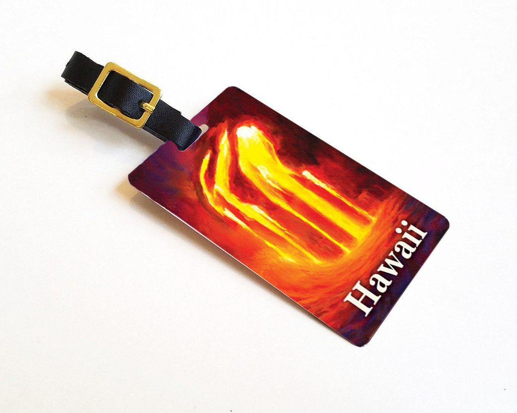 Ocean Entry - Hawaiian Luggage Tags Featuring a Lava