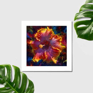 Tropical Hibiscus Flower Wall Art by Hawaii artist Karen Whitworth