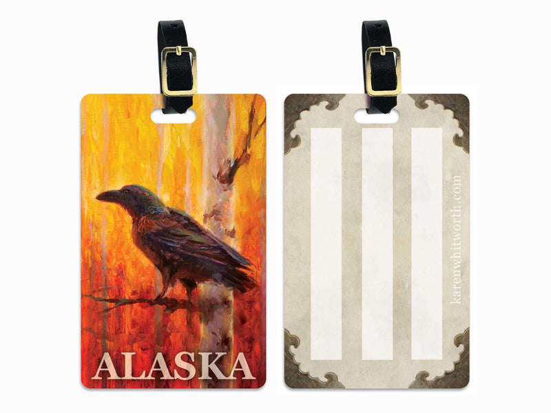 Alaska Raven Luggage Tag