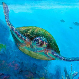 Dreamy Sea Turtle Wall Art Print