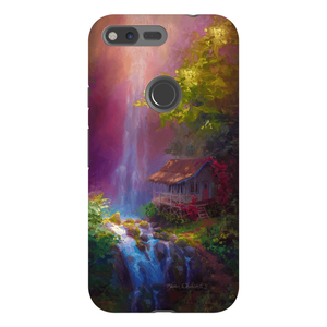 Google Pixel Hawaiian Phone Case With Tropical Jungle Waterfall