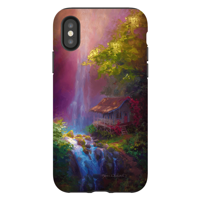 Hawaiian Phone Case With Tropical Jungle Waterfall