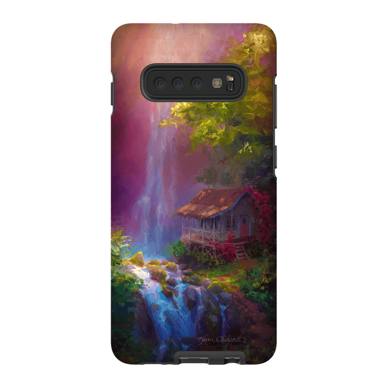 Samsung Galaxy Hawaiian Phone Case With Tropical Jungle Waterfall