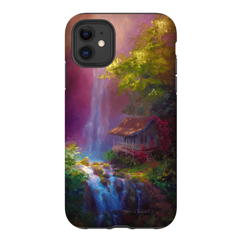 iPhone 11 Hawaiian Phone Case With Tropical Jungle Waterfall