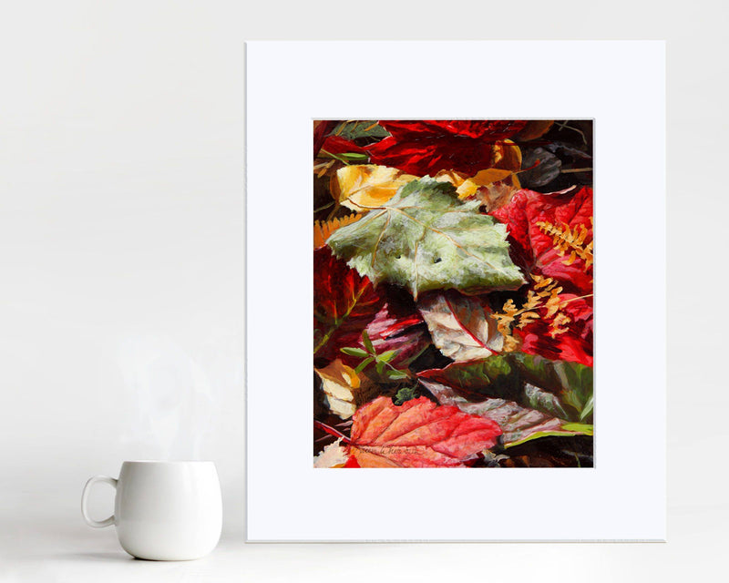 Vibrant Red Autumn Leaves Art Print