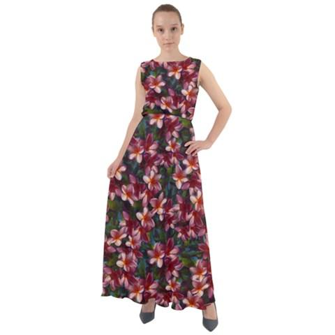Hawaiian Floral Maxi Dress For Women