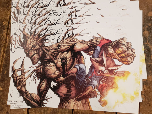 Rocket and Groot. Print