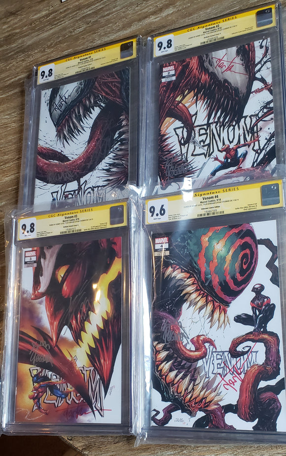 Venom 1-4 triple signed set. CGC