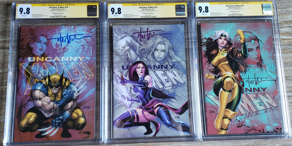 Uncanny X-men #19 yellow label, signature series set.