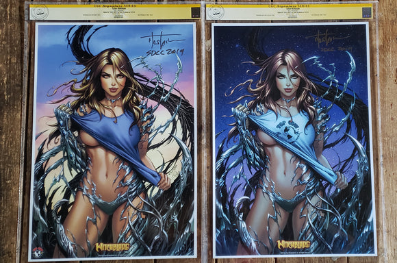 Witchblade San Diego comic con exclusive lithograph CGC (free shipping in USA)