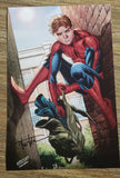 Peter Parker, Spider man lithograph.