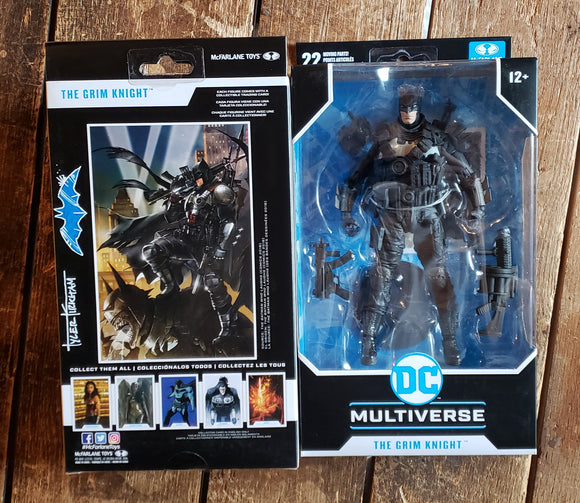 The Grim Knight DC Multiverse McFarlane toys action figure. (Remarked)
