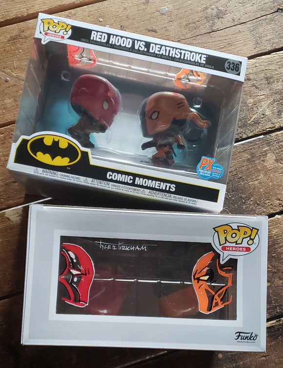 Redhood Deathstroke Funko pop set (Remarked)