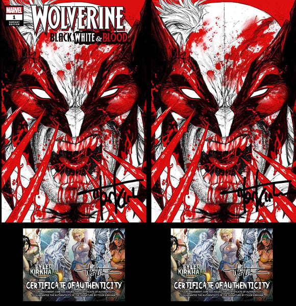 Wolverine black, white and blood