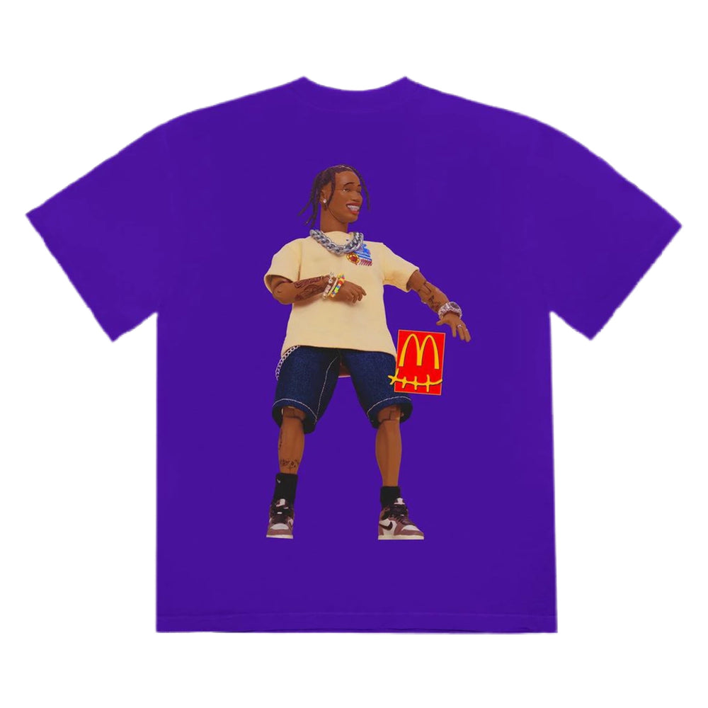 Travis Scott X McDonalds Action Figure Tee Purple