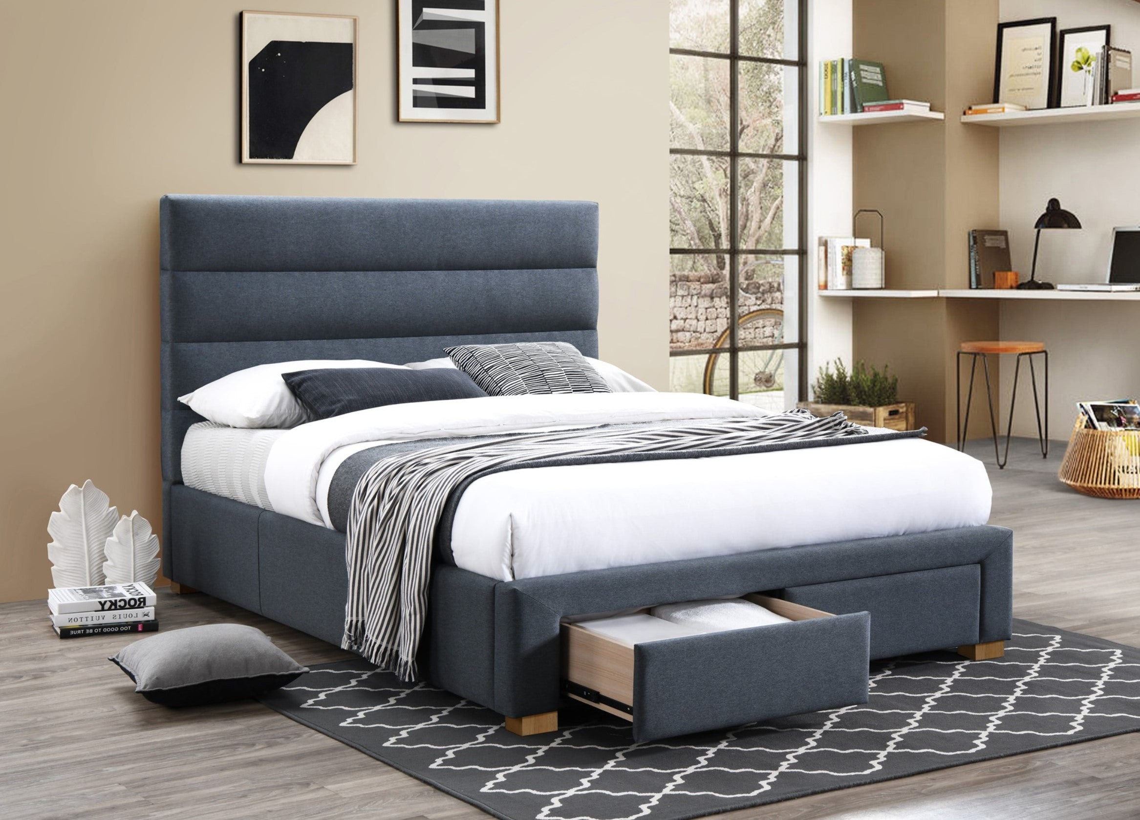 Alana Upholstered bed with Drawers