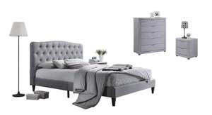 Brooke Linen Bed