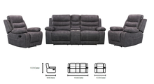 Load image into Gallery viewer, Brookmont 2 Seater w/ console Recliner suite