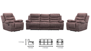 Brookmont 3 Seater Recliner suite