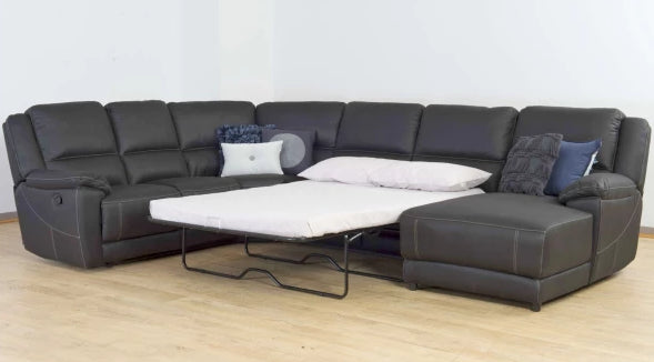 Theatre Corner Recliner Chaise Lounge with Sofa Bed