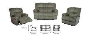 Open image in slideshow, Ella 2 Seater Recliner Lounge Suite