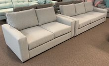 Load image into Gallery viewer, Sandstone 2 & 3 seater Sofa Pair with Dunlop Endurofoam Seat Cushions