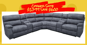 Seattle Modular Corner Recliner Lounge Suite with 2 Consoles