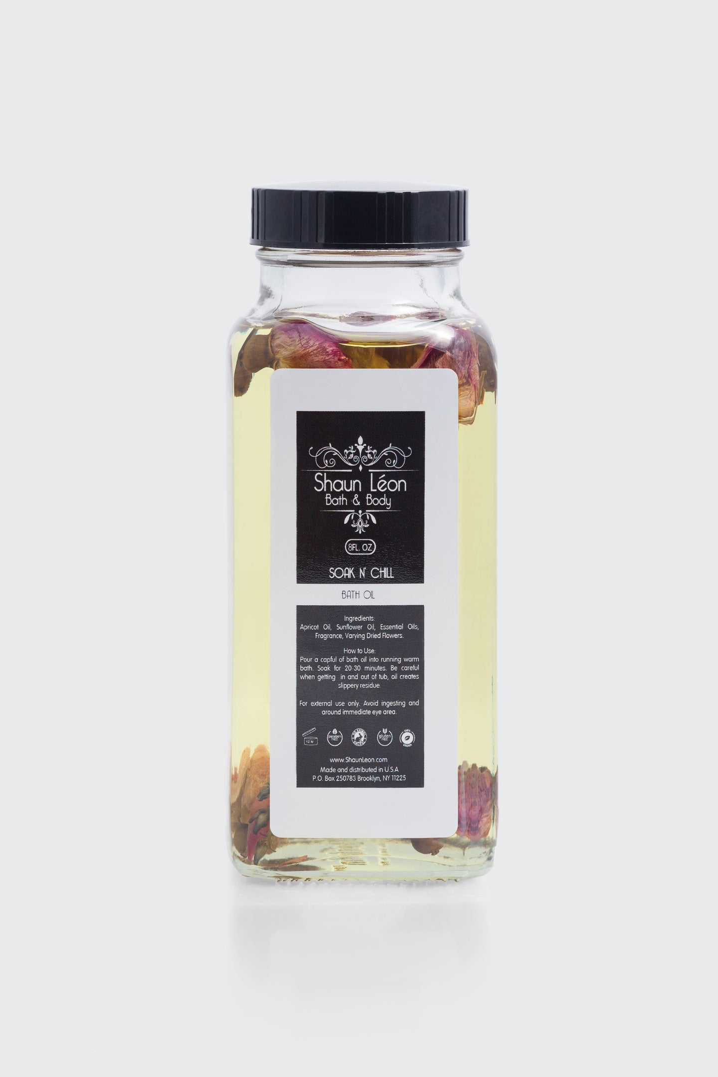 Bath oil made from natural sunflower and apricot kernal oils