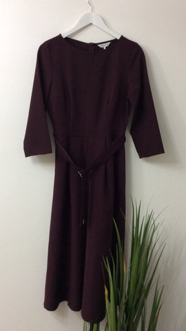 GREAT PLAINS BORDEAUX PLUM WIDE LEG JUMPSUIT
