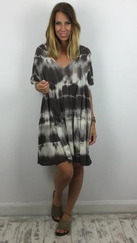 STUDIO TIE DYE SMOCK DRESS