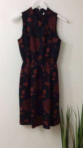 ANONYME NAVY & RED PERLA FLORAL DRESS