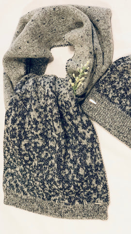SILVIAN HEACH GREY METALLIC HAT AND SCARF
