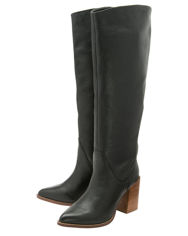 RAVEL LUMSDEN KNEE HIGH LEATHER BOOTS