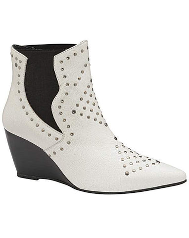RAVEL REEFTON STUDDED LEATHER WEDGED ANKLE BOOT