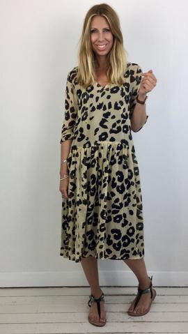 MASAI NEOMA LEOPARD PRINT SHEER DRESS