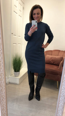 SAINT TROPEZ FINE KNIT DRESS