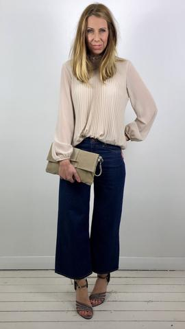 PLEATED HIGH NECK TOP