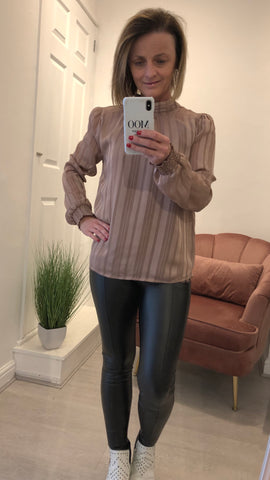 SAINT TROPEZ HIGH NECK SHEER TOP