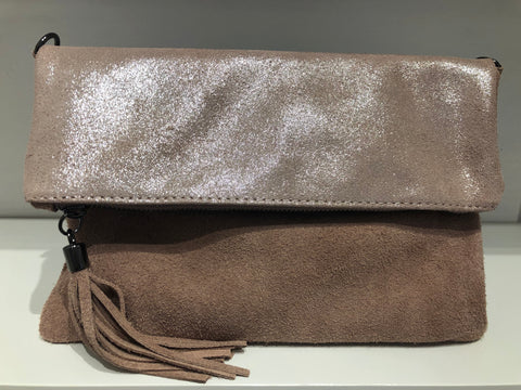 ENVELOPE SUEDE STYLE CLUTCH BAG