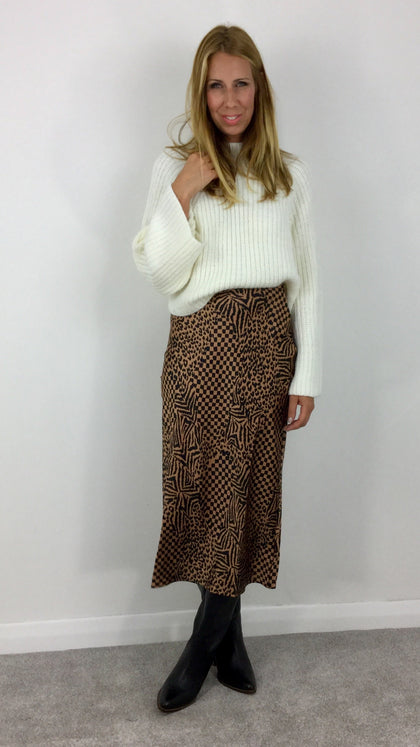 AMUSE SOCIETY ENCORE PRINTED MAXI SKIRT