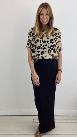 MASAI DASHA LEOPARD PRINT SHEER TOP