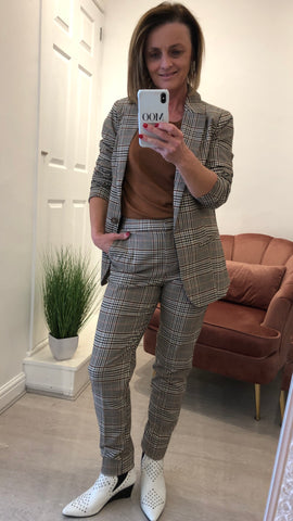 SAINT TROPEZ CHECKED BLAZER